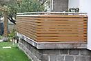 Balkon mit Rhombusleisten