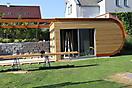 Runde Gartenhütte